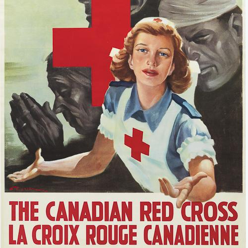 Illustration en couleur d'une infirmière tendant sa main.