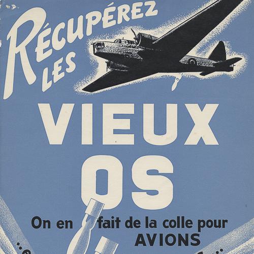 Illustration d'un avion et deux bombes larguées.