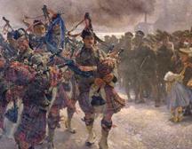 Peinture par Edgar Bundy commémorant le débarquement de la 3e Brigade d'infanterie canadienne à Saint-Nazaire.