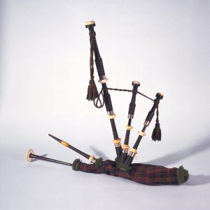 La cornemuse dont a joué un membre du Cameron Highlanders d'Ottawa