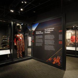 L'exposition des Highlands, les régiments