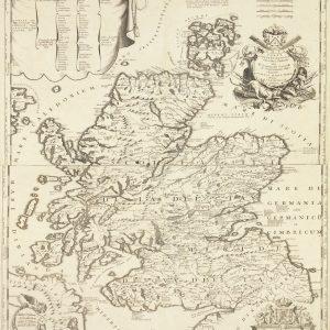 Carte de l'Écosse de 1690