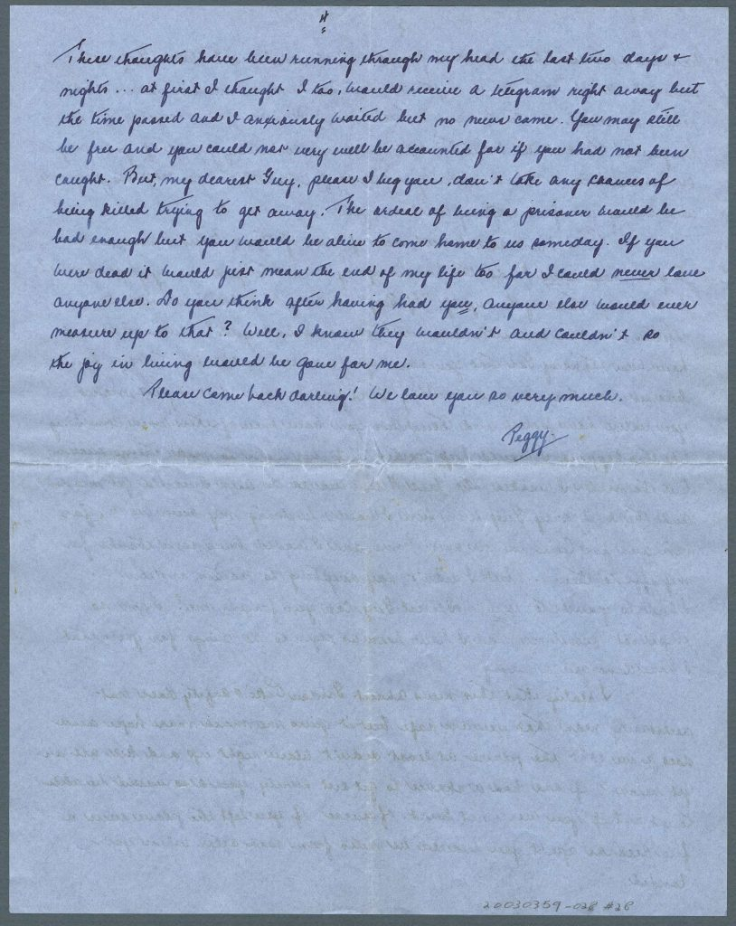 A handwritten four-page letter