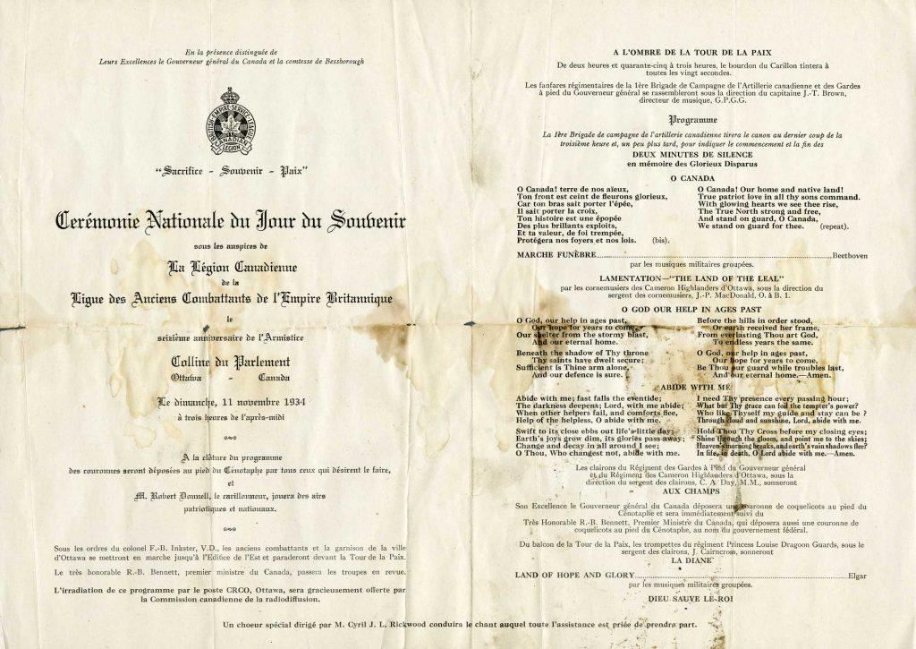 Document imprimé taché